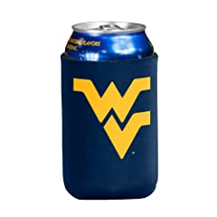 Buy NCAA West Virginia Mountaineers Flat Drink Coozie by Logo