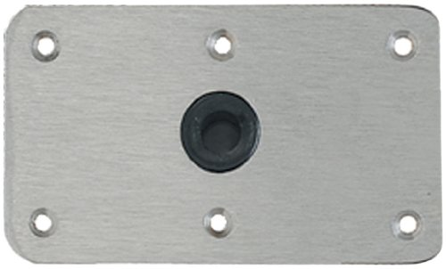 "Attwood 64839 Lock'N-Pin 3/4"" Marine Stainless Steel Pin Base Plate"