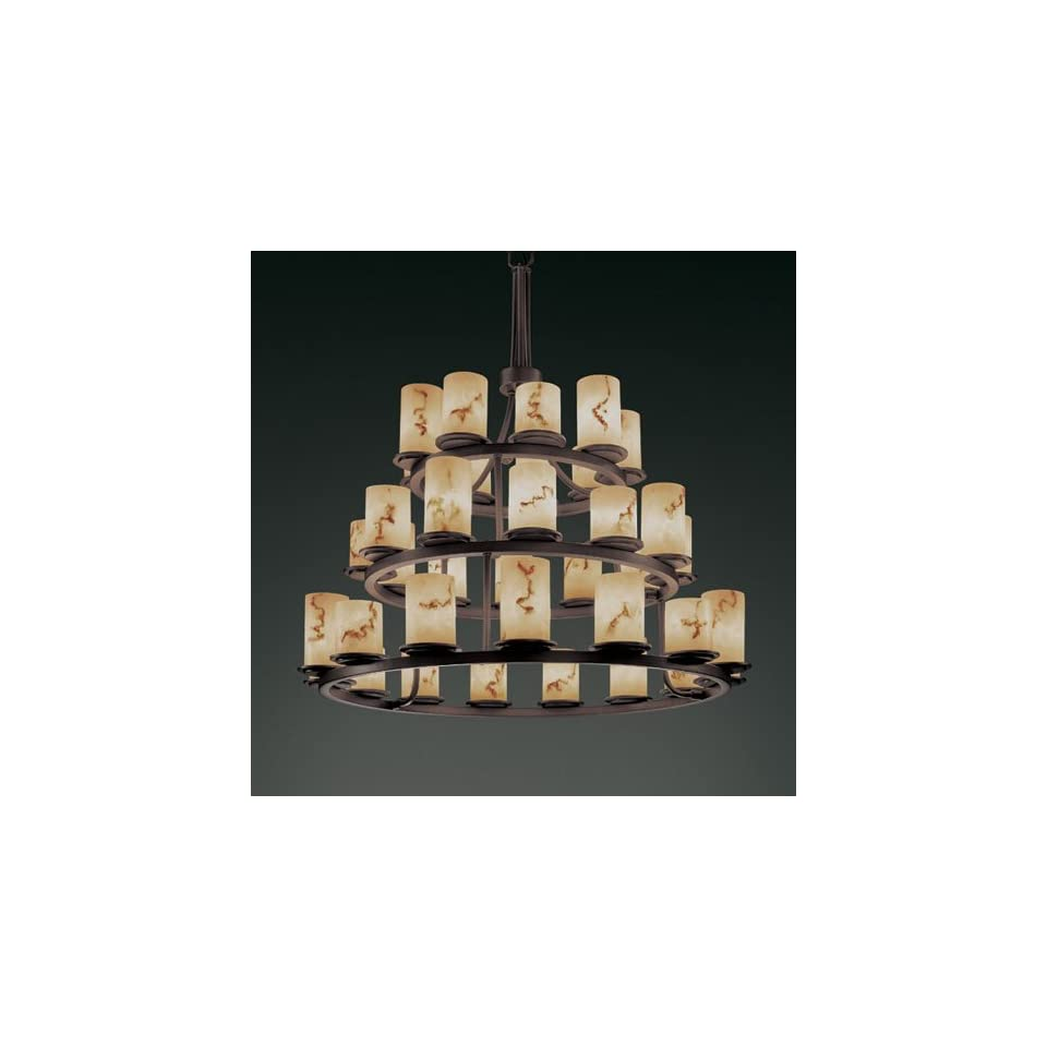 Justice Design Group FAL 8712 Dakota 36 Light 3 Tier Ring Chandelier