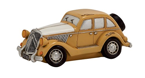Benzara Mustered Polished Appealing Polystone Car Piggy Bank - 1
