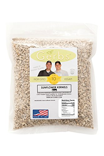 Raw Sunflower Seed Kernels by Gerbs - 2 LBS - Top 11 Food Allergen Free & NON GMO - Vegan & Kosher - Seed Country of Origin USA - Premium Grade Shelled Sunflower (Sunflower Seeds Gerbs compare prices)