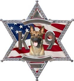 6 Point Star Police K9 Decal - 2