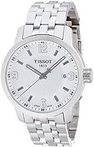 Tissot PRC 200 Quartz Silver Dial Stainless Steel Sport Mens Watch T0554101103700