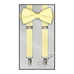 Suspender & Bow Tie Set (Kids, Yellow)