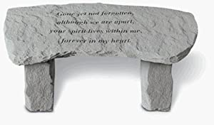 Gone Yet Not Forgotten Memorial Bench - Small Bench from Kay Berry Inc
