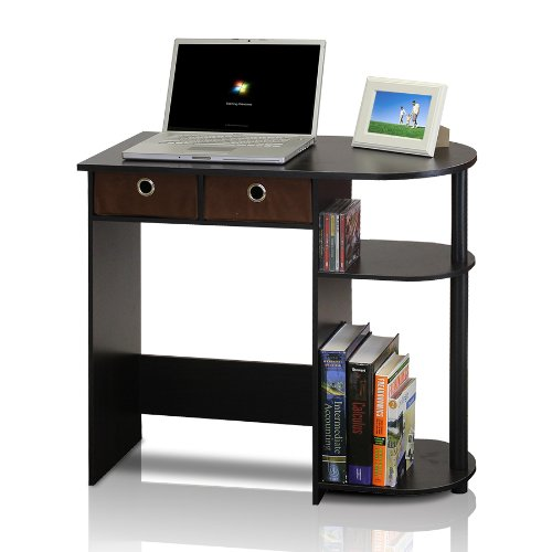 Furinno 11193EX/BK/BR Go Green Home Laptop Notebook Computer Desk/Table, Espresso/Black/Brown (Espresso Desk Small compare prices)