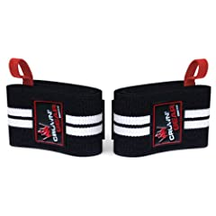 Weight Lifting Wrist Support Wraps with Thumb Loop - Best Weightlifting Wrap for Pro... by Crown Gear