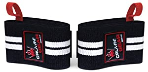 Weight Lifting Wrist Support Wraps with Thumb Loop - Best Weightlifting Wrap for Pro Gym Training - Power Lifting - Body Building - Powerlifting - This Wrist Wraps Come in Pair Fits Both Guy and Girl - 1 Year Replacement Warranty