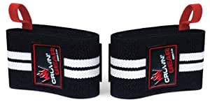 Weight Lifting Wrist Support Wraps with Thumb Loop - Best Weightlifting Wrap for Pro Gym Training - Power Lifting - Body Building - Powerlifting - This Wrist Wraps Come in Pair Fits Both Guy and Girl