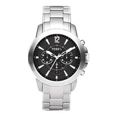 Fossil Men's FS4532 Stainless Steel Bracelet Black Analog Dial Chronograph Watch