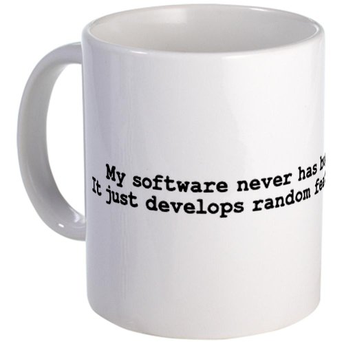 Cafepress My Software Never Has Bugs: I Mug - S White