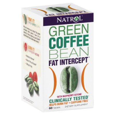 Natrol Fat Intercept Tablets, Green Coffee Bean with Raspberry Ketones, 60-Count (Green Coffee Bean Natrol compare prices)