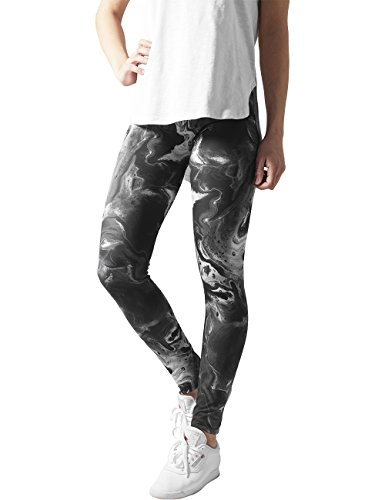 Urban Classics Ladies Smoked Marble, Leggings Donna, Mehrfarbig (Blk/Wht 50), X-Large