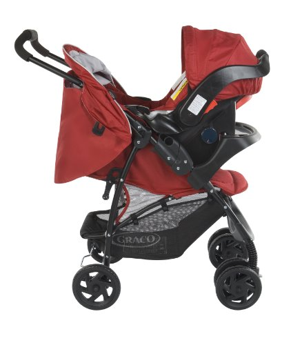 Graco Mirage Travel System (Red,  0 - 36 Months)