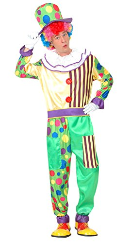 Ace Halloween Unisex Adult Funny Fancy Clown Costume