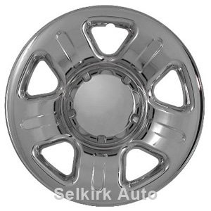 "Set of 4 16"" Chrome Wheel Skin Hub Covers w Center: Ford Explorer (2002 -2006) 16x7 Inch 5 Lug Steel Rim -aftermarket: IMP/41X"