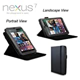 MOFRED® Black New Nexus 7 (1st gen) Case-MOFRED®-360 Degree Rotating Standby Case for Google Nexus 7 with Built-in magnet for Sleep & Awake Feature
