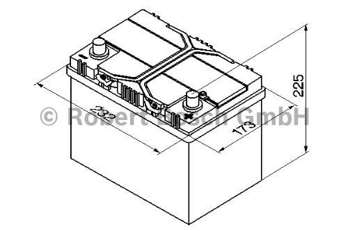 BOSCH S4 AUTOBATTERIE S4 024 12V 60AH 540A 560