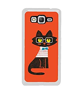 Cute Cat Clipart 2D Hard Polycarbonate Designer Back Case Cover for Samsung Galaxy Grand Prime :: Samsung Galaxy Grand Prime Duos :: Samsung Galaxy Grand Prime G530F G530FZ G530Y G530H G530FZ/DS