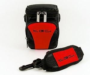 The TGC ® Anti-Shock Camera Case for Canon PowerShot G16, SX170 IS (Crimson Red & Black)