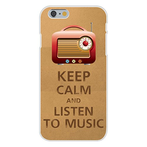 Apple Iphone 6 Custom Case White Plastic Snap On - Keep Calm And Listen To Music Radio