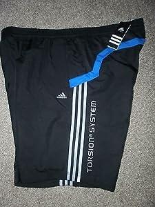 Adidas Torsion Mens XL Woven Sport Shorts Black/Prime Blue