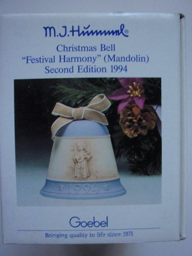 "Hummel Goebel: 1994 Hummel Christmas Bell Ornament – ""Festival Harmony"" Mandolin (2nd Edition)"