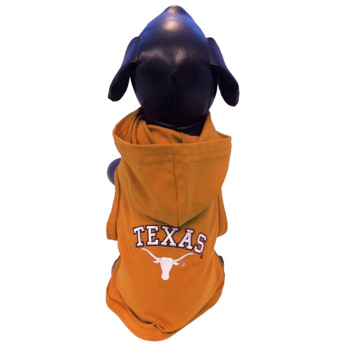 NCAA Texas Longhorns Cotton Lycra Hooded Dog Shirt, X-Small at Amazon.com