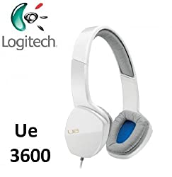Logitech Ultimate Ear UE3600 Headphones with Mic for Smartphones, Tablets and Laptops (White)