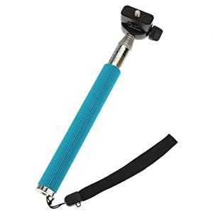 7 segments Extendable HandHeld Tripod Monopod for Digital Compact Camera Camcorder DV Blue