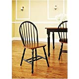 BETTER HOMES AND GARDENS WINDSOR KITCHEN CHAIRS SET OF 2 AUTUMN LANE BLACK & OAK