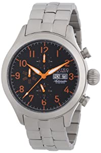 Nautec No Limit Herren-Armbanduhr XL Tempest Analog Automatik Edelstahl TM AT/STSTSTBK-OR
