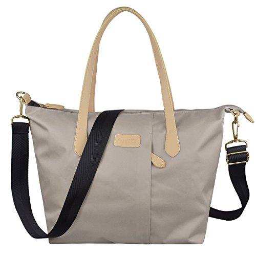 ecosusi-women-multifunction-nylon-tote-bag-designer-handbag-beige