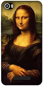 The Racoon Grip Mona Lisa - Da Vinci hard plastic printed back case / cover for Lava Iris X8