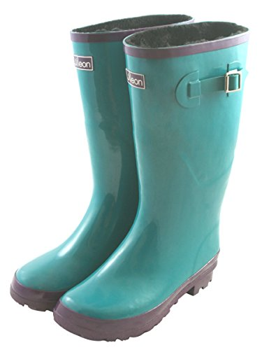Wide Calf Wellies Puddle Jumpers: Fit up to 18 inch calf - Vibrant Colors -  Fleece Lined