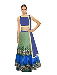 Fashion Galleria Women's Digital Printed Festive Semi-Stitched Lahenga Choli (FG_111)