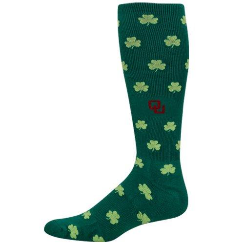 Cheap NCAA Oklahoma Sooners Kelly Green St. Patrick's Day Half Cushion Knee Socks (B004QQ32I6)