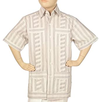 Striped guayabera shirts for boys.