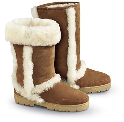 Bearpaw womens bear paw kodiak sheepskin boots chestnut chestnut 7