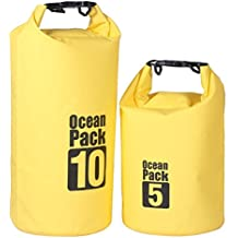 Waterproof Dry Bag With Shoulder Strap, AUGYMER Dry Bag Beach Sack With Grab Handle Perfect For Boating Kayaking...