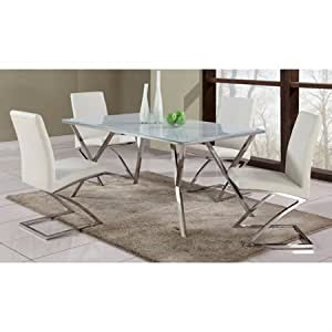 Jade Contemporary Dining Set With Glass Top Table By Chintaly Im
