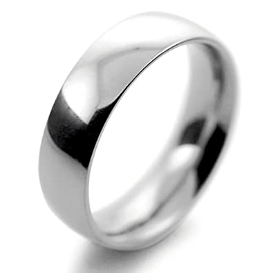 Palladium Wedding Ring Court Very Heavy - 6mm