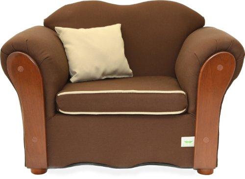 Fantasy Furniture Homey Vip Organic Chair, Brown/Beige