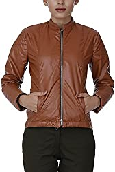 Baba Rancho Women's Regular Fit Jacket (Lj 00208_M, Tan, M)