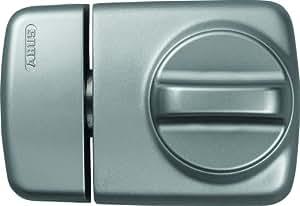 ABUS 589164 7510 S Tür-Zusatzschloss mit Drehknauf für Türen mit schmalen Rahmenprofilen, silber