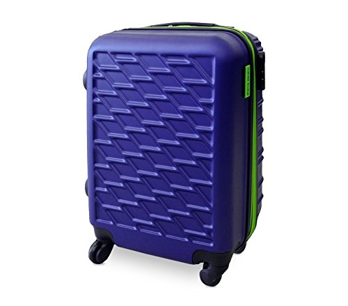 DFS519 Trolley rigido Pierre Cardin in ABS 4 ruote girevoli 52x37x23 cm. MEDIA WAVE store (Blu)
