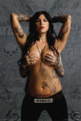 (24X36) Kat Von D (Topless) Tv Poster Print