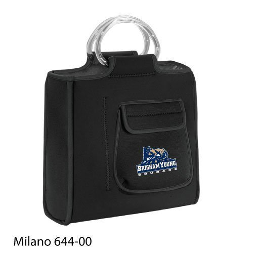 Brigham Young Cougars Milano Insulated Neoprene Lunch Tote - Black w/Digital Print