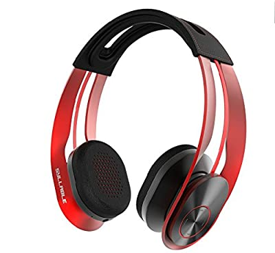 Syllable G700 Audiophiles Wireless Bluetooth Headphone Noise Cancelling Noise Reducing Hi-Fi Bluetooth Headset Deep Base Leatherette Ear Pad Beam Shape Memory Alloy Size Adjustable Blue