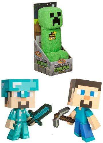 Minecraft Figure & Plush Set Of 3